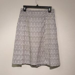 Tory Burch skirt w/POCKETS navy blue and white